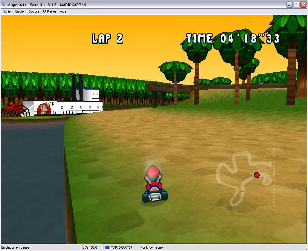 mario kart snes emulator